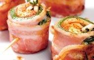 Rulouri de bacon cu brânză