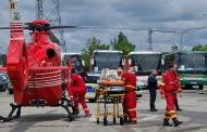 Fetiță transferată de urgență la București, cu elicopterul!