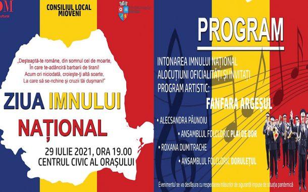 Ziua Imnului Național sărbătorită pe ritmuri de fanfară, la Mioveni