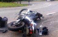 Accidente în lanţ cu motociclişti!