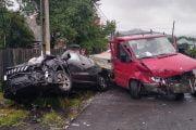 Masina Poliţiei implicată în accident!