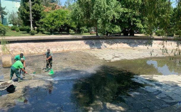 Lacul din Expo-Parc a fost golit și curățat!