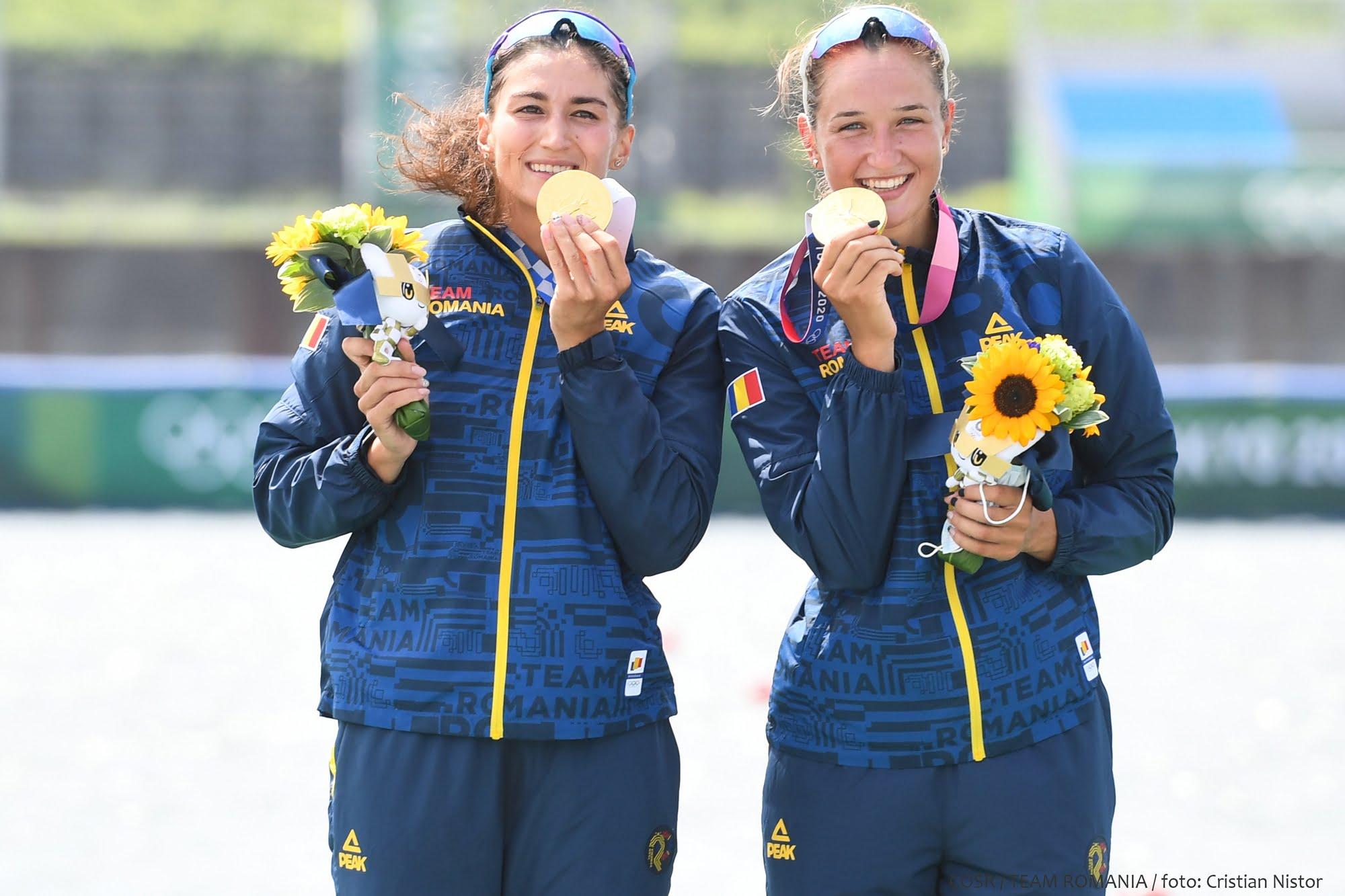 Aur şi argint pentru canotajul românesc la Tokyo!