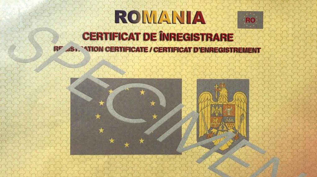S-a modificat certificatul de înregistrare