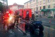 ATV cuprins de foc în timpul mersului!