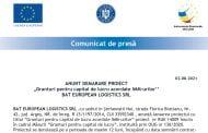"""""""Granturi pentru capital de lucru acordate IMM-urilor'' BAT EUROPEAN LOGISTICS SRL"""