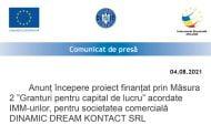 Anunț începere proiect finanțat prin Măsura 2