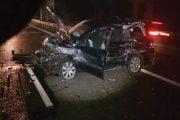 Accident cu un TIR și o mașină pe A1!