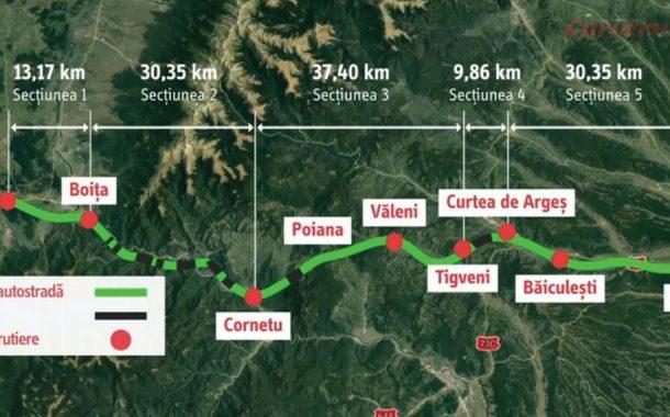 Se licitează tronsonul de 1 miliard E al Autostrăzii Pitești – Sibiu