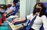 Poliţiştii au donat sânge şi plasmă!